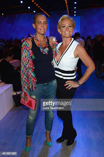 Natascha Ochsenknecht and Claudia Effenberg attend the Glaw show during the MercedesBenz Fashion Week Spring/Summer 2015 at Erika Hess Eisstadion on...