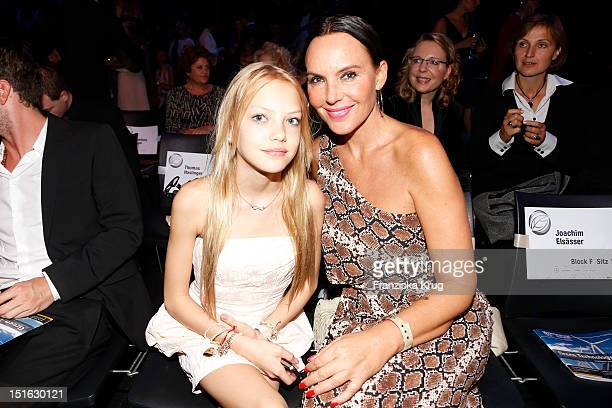 Natascha Ochsenknecht and her daughter Cheyenne attend the Clean Tech Media Award at Tempodrom on September 7 2012 in Berlin Germany
