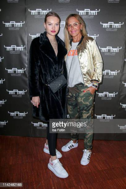 Natascha Ochsenknecht and her daughter Cheyenne Savannah Ochsenknecht attend the Umami Opening on May 9 2019 in Berlin Germany