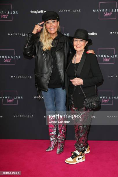 Natascha Ochsenknecht and her mother Baerbel Wierichs at the Maybelline New York show 'Makeup that makes it in New York' during the Berlin Fashion...