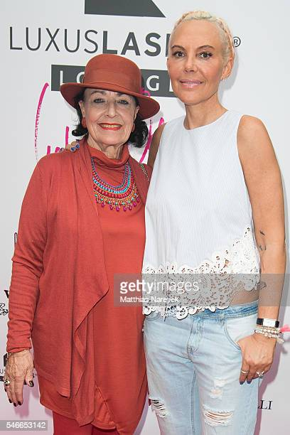 Natascha Ochsenknecht and her mother Baerbel Wierichs during the grand opening of Luxuslashes Lounge by Natascha Ochsenknecht on July 12 2016 in...