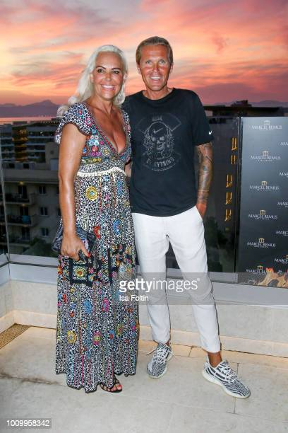Natascha Ochsenknecht and her new partner Oliver Schumann attend the Remus Lifestyle Night on August 2, 2018 in Palma de Mallorca, Spain.