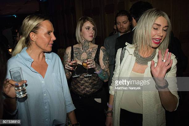 Natascha Ochsenknecht and Kiki Viebrock attend the EIS! party at Soho house on January 28, 2016 in Berlin, Germany.