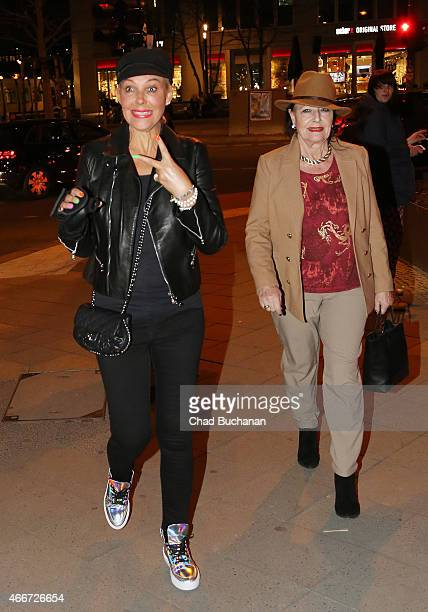 Natascha Ochsenknecht and Mutter Baerbel Wierichs sighted at the Berlin Dungeon on March 18 2015 in Berlin Germany