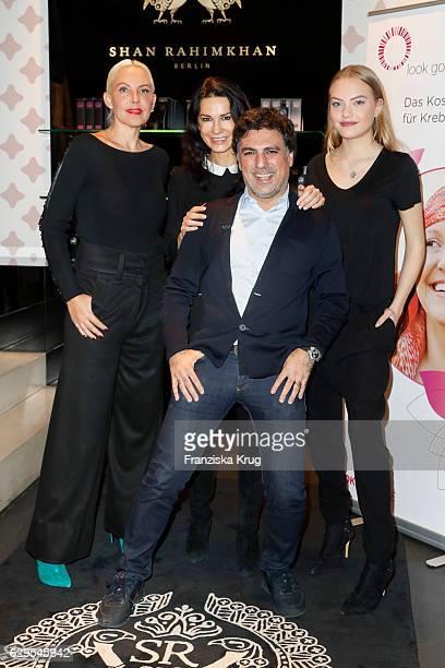 Natascha Ochsenknecht Mariella Ahrens Shan Rahimkhan and Cheyenne Savannah Ochsenknecht attend the Shan's Beauty Dinner on December 13 2016 in Berlin...