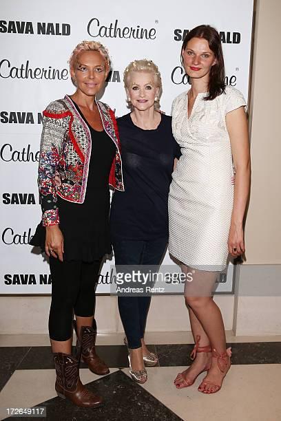 Natascha Ochsenknecht Marika Kilius and Inna Thomas pose before the Sava Nald Show during the MercedesBenz Fashion Week Spring/Summer 2014 at Hotel...