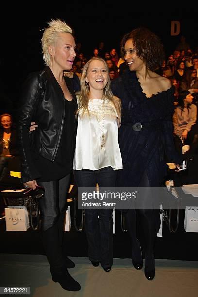 Natascha Ochsenknecht Nova Meierhenrich and Annabelle Mandeng attend the 'Kilian Kerner' fashion show during the Mercedes Benz Fashion Week A/W 2009...