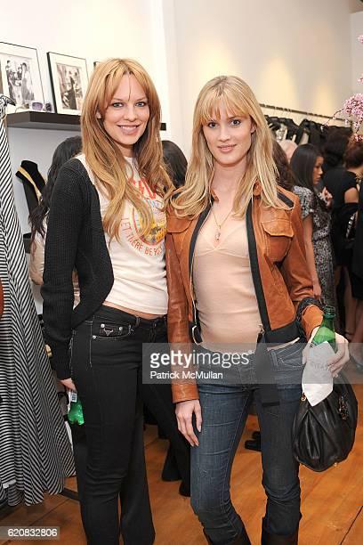 Natasha Alam and Celeste Hodge attend Badgley Mischka Boutique Opening Celebration at Sunset Plaza at Sunset Plaza on March 6 2008 in West Hollywood...