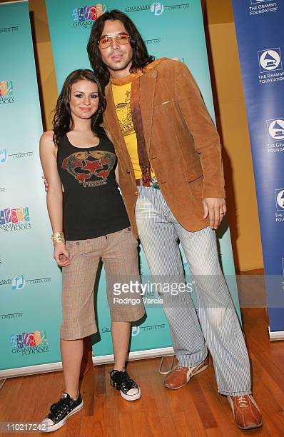 Natasha and Jorge Moreno during Miami High School Students Attend Grammy Career Day at University of Miami in Miami, Florida, United States.