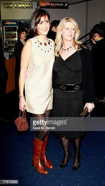 Natasha and Nikki Caine arrive at the UK film premiere of 'Sleuth' at Odeon West End on November 18 2007 in London England