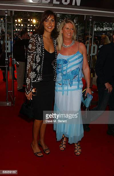 Natasha and Nikki Caine daughters of actor Sir Michael Caine arrive at the European premiere of Batman Begins at the Odeon Leicester Square on June...