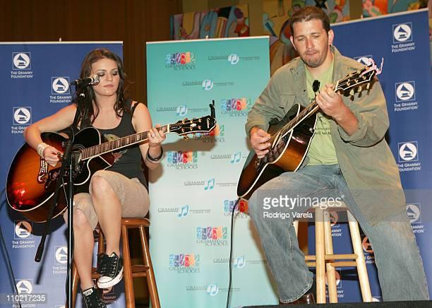 Natasha and Sebastian Krys during JD Natasha Performs at Grammy Career Day at University of Miami in Miami, Florida, United States.
