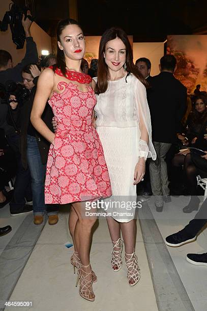 Natasha Andrews and Elsa Zylberstein attend the Zuhair Murad show as part of Paris Fashion Week Haute Couture Spring/Summer 2014 on January 23 2014...