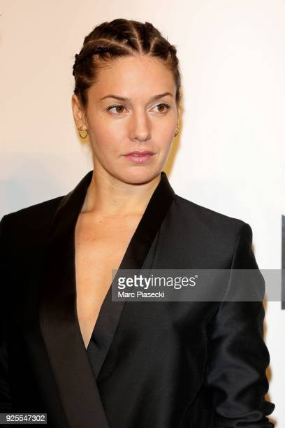 Natasha Andrews attends the HM show as part of the Paris Fashion Week Womenswear Fall/Winter 2018/2019 on February 28 2018 in Paris France