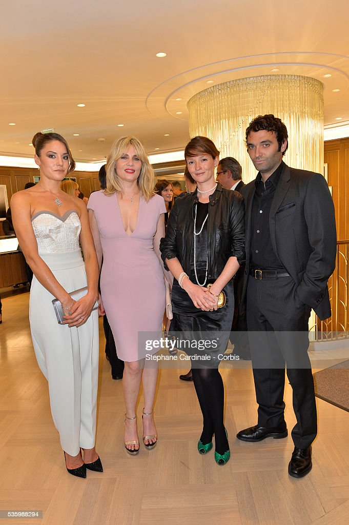 Natasha Andrews, Emmanuelle Seigner, Audrey Marnay and Virgile Bramly attend the Tiffany & Co Flagship Opening on the Champs Elysee on June 10, 2014 in Paris, France.