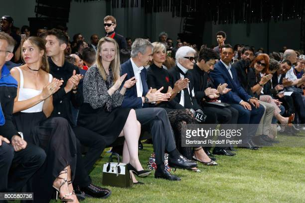 Natasha Andrews Pierre Niney Louis Vuitton's executive vice president Delphine Arnault Owner of LVMH Luxury Group Bernard Arnault his wife Helene...
