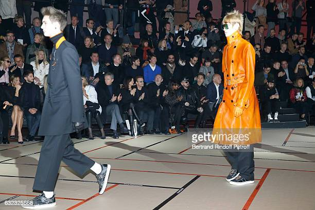 Natasha Andrews Pierre Niney Owner of LVMH Luxury Group Bernard Arnault Singer Bono with his wife Ali Hewson photographer Anton Corbijn designer Nimi...