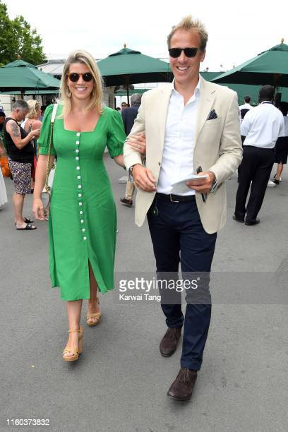 Natasha Archer and Royal photographer Chris Jackson attend day six of the Wimbledon Tennis Championships at All England Lawn Tennis and Croquet Club...