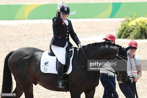 Natasha Baker of Great Britain, onboard Cabral during Equestrian - Dressage - Individual Championship Test - Grade II Final on day 8 of the Rio 2016...