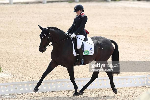 Natasha Baker of Great Britain onboard Cabral during Equestrian Dressage Individual Championship Test Grade II Final on day 8 of the Rio 2016...