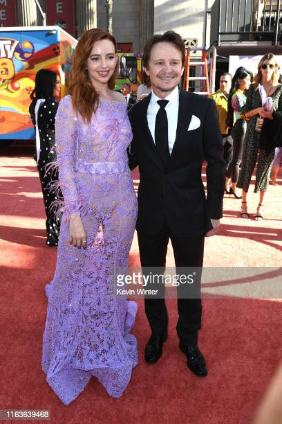"""Natasha Bassett and Damon Herriman attend the Sony Pictures' """"Once Upon A Time...In Hollywood"""" Los Angeles Premiere on July 22, 2019 in Hollywood,..."""