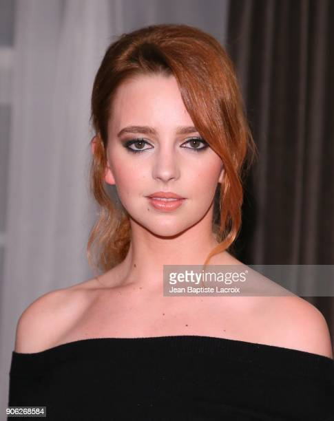 Natasha Bassett attends the Wolk Morais Collection 6 Fashion Show on January 17 2018 in Los Angeles California