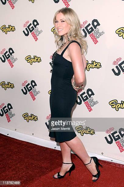 Natasha Bedingfeld during 2005 Spike TV Video Game Awards Arrivals at Gibson Amphitheater in Universal City California United States