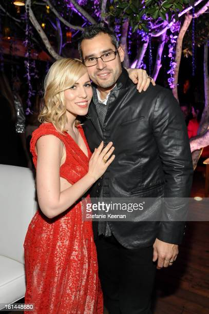 Natasha Bedingfield and Matthew Robinson attend Red Light Management Grammy After Party at Mondrian Los Angeles on February 10 2013 in West Hollywood...