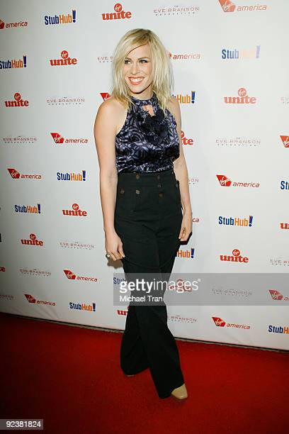 """Natasha Bedingfield arrives to the 3rd Annual """"Rock The Kasbah"""" fundraising gala held at Vibiana on October 26, 2009 in Los Angeles, California."""