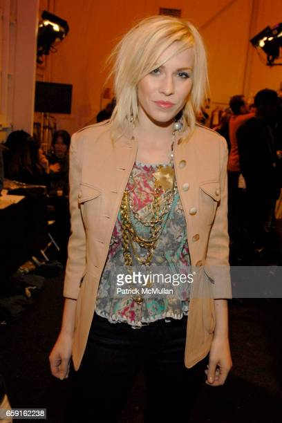 Natasha Bedingfield attends ALEXANDRE HERCHCOVITCH Fall 2009 Collection at Salon on February 18 2009 in New York City