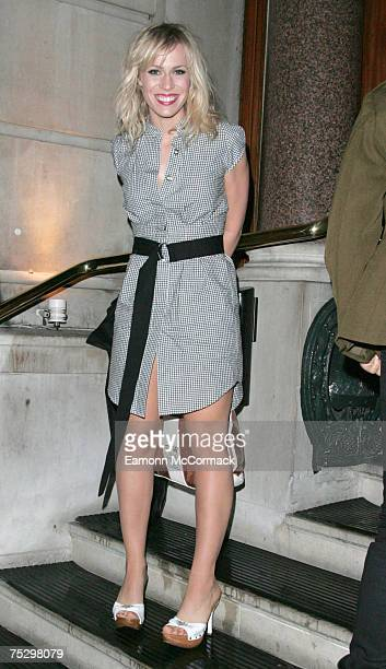 "Natasha Bedingfield attends Sean Combs' ""Unforgivable"" dinner at Fifty St. James in London on July 2, 2007."