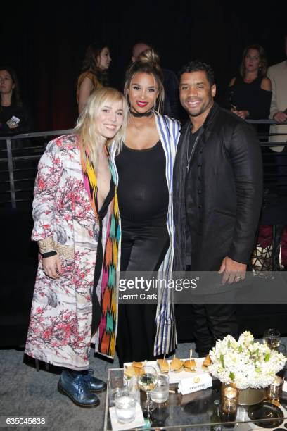 Natasha Bedingfield Ciara and Russell Wilson attend Remy Martin Presents The Warner Music Block Party at Milk Studios on February 12 2017 in...