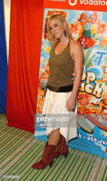 Natasha Bedingfield during T4 Pop Beach 2004 Backstage at Great Yarmouth Beach in London Great Britain