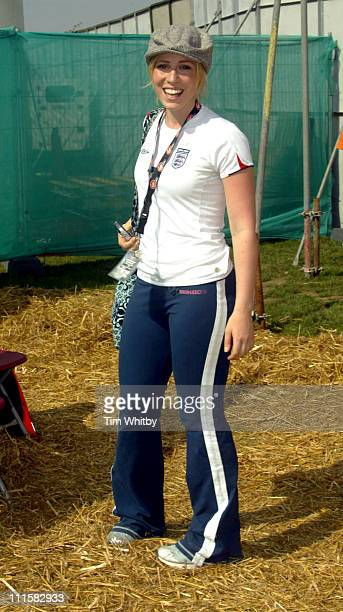 Natasha Bedingfield during V Festival 2005 Chelmsford Day Two Backstage at Hylands Park in Chelmsford Great Britain