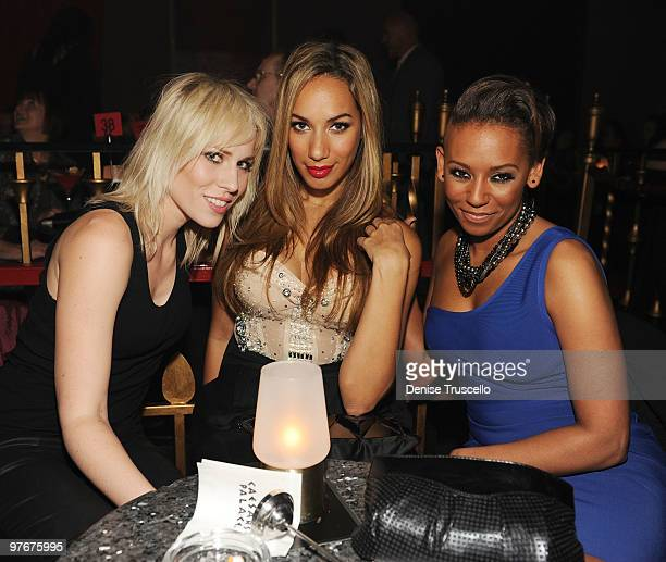 Natasha Bedingfield Leona Lewis and Mel B attend Matt Goss' debut performance at Caesars Palace on March 12 2010 in Las Vegas Nevada