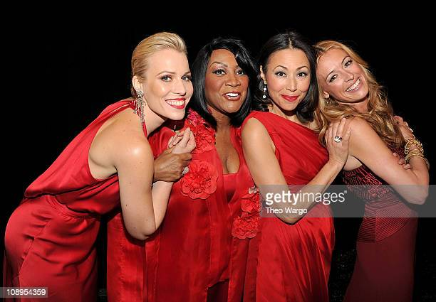 Natasha Bedingfield Patti LaBelle Ann Curry and Cat Deeley attend the Heart Truth's Red Dress Collection 2011 during MecerdesBenz fashion week at The...