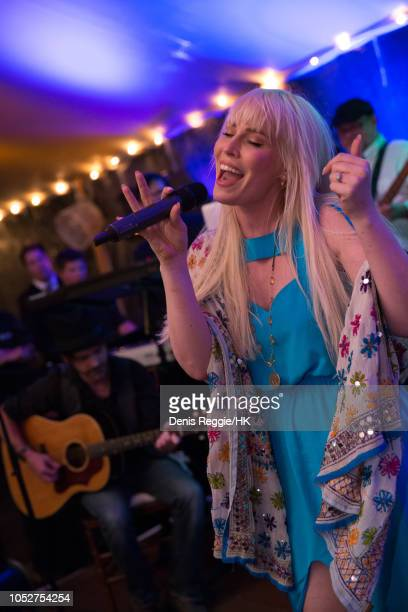 Natasha Bedingfield performs at Cheryl Hines and Robert F Kennedy Jr Wedding at a private home on Saturday August 2 in Hyannis Port Massachusetts...