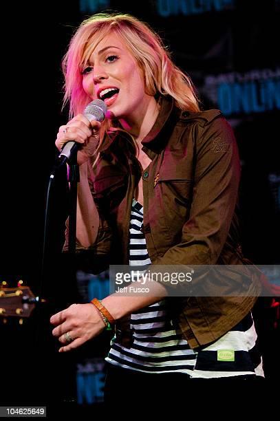 Natasha Bedingfield performs at radio station Q102's Studio Q on October 1, 2010 in Philadelphia, Pennsylvania.