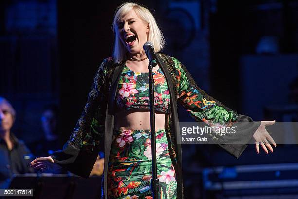 Natasha Bedingfield performs at the 5th Annual Cyndi Lauper and Friends Home For The Holidays benefit concert at The Beacon Theatre on December 5...