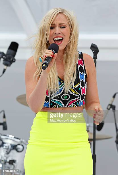 Natasha Bedingfield performs during the naming ceremony for the new Princess Cruises ship 'Royal Princess' on June 13 2013 in Southampton England The...