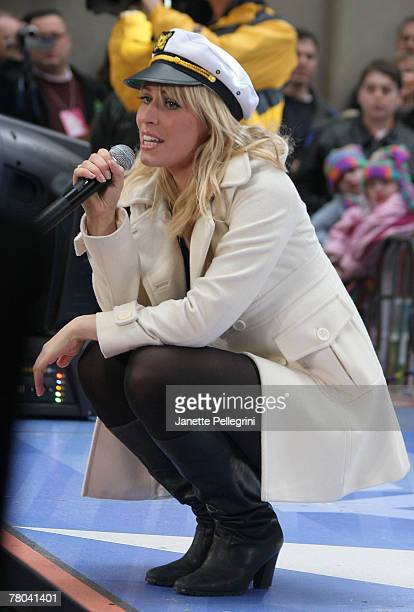 Natasha Bedingfield performs on NBC's 'Today' in Rockefeller Center on November 20 2007 in New York City