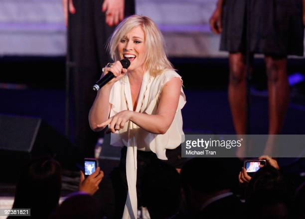 """Natasha Bedingfield performs onstage at the 3rd Annual """"Rock The Kasbah"""" fundraising gala held at Vibiana on October 26, 2009 in Los Angeles,..."""