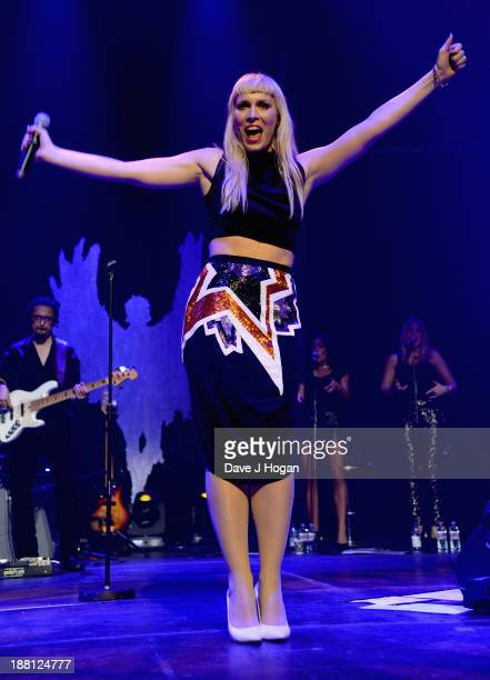 Natasha Bedingfield performs onstage at The Global Angel Awards at the Roundhouse on November 15 2013 in London England