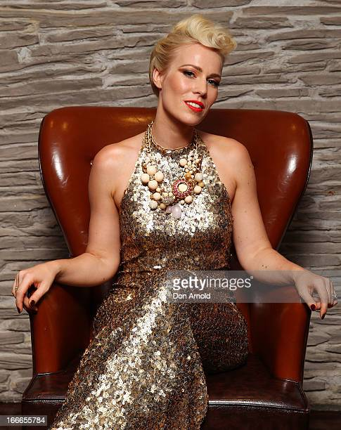Natasha Bedingfield poses during the 2013 Australian Hair Fashion Awards after party at Doltone House on April 15 2013 in Sydney Australia
