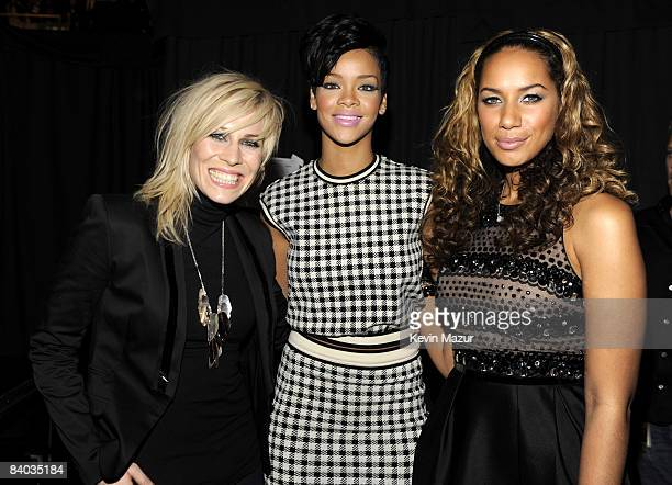 NEW YORK DECEMBER 12 Natasha Bedingfield Rihanna and Leona Lewis pose backstage during Z100's Jingle Ball 2008 Presented by HM at Madison Square...