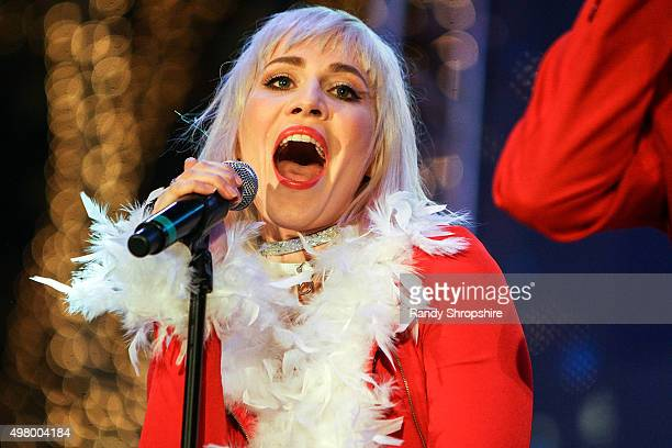 Natasha Bedingfiled of Band of Merrymakers performs at The Americana at Brand Christmas event presented by The San Fernando Valley BMW Centers on...