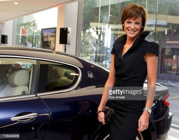 Natasha Belling attends the opening of the world's latest Ferrari and Maserati dealership Ferrari Maserati Sydney at Elizabeth Street Waterloo on...
