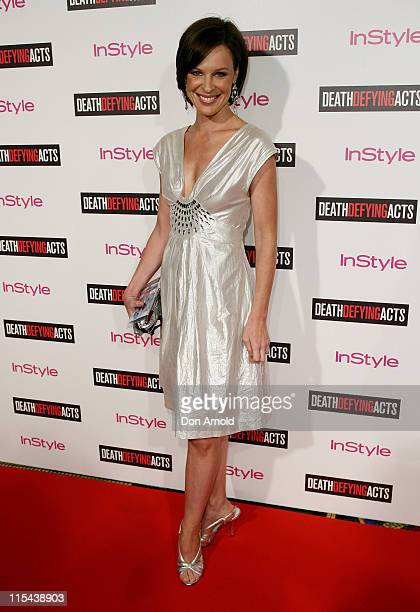 Natasha Belling attends the premiere of 'Death Defying Acts' at the State Theatre on March 10 2008 in Sydney Australia