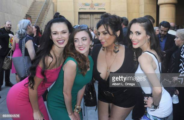 Natasha Blasick Amber Martinez Alice Amter and Mandy Amano arrives for Etheria Film Night held at The Egyptian Theatre on June 3 2017 in Los Angeles...