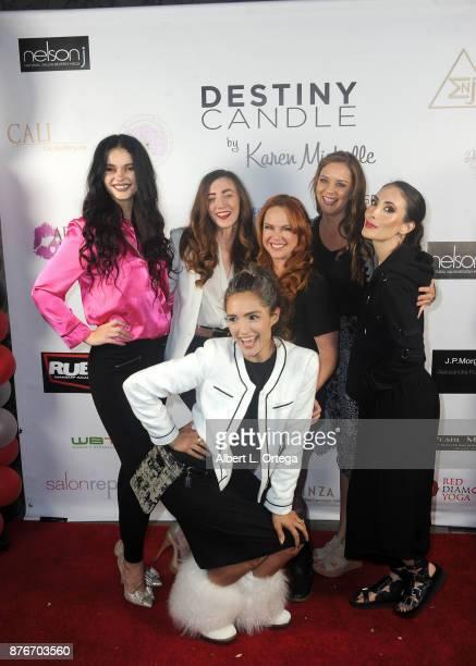 Natasha Blasick Amber Martinez Lisa Cash Courtney Moore Mandy Amano and Nataliyajoy Prieto at the Love Your Body Fashion Show And Shopping Event held...